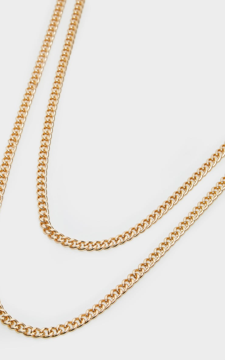 Gold Double Layer Plain Chain Belt 3