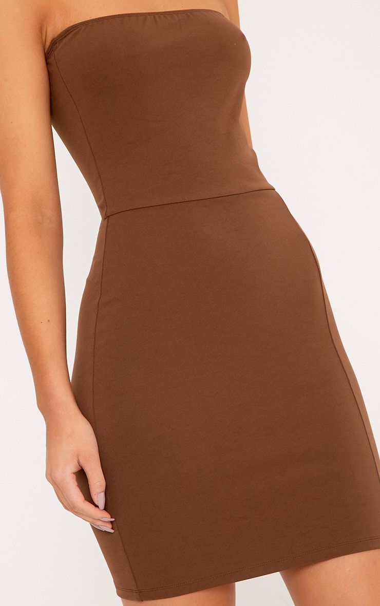 Elia Brown Bandeau Bodycon Dress 5