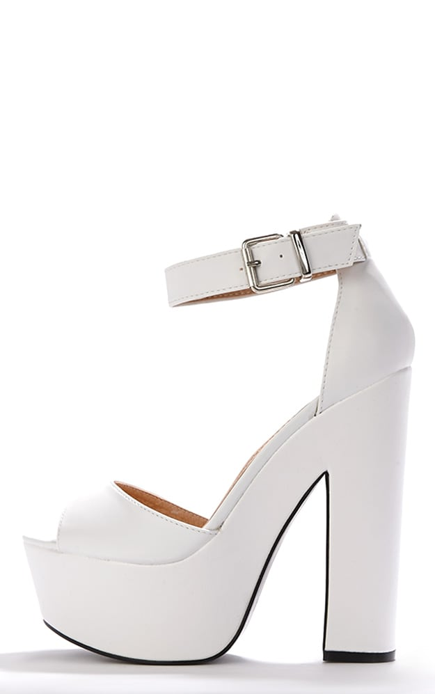 Madison White Platform Sandal 1