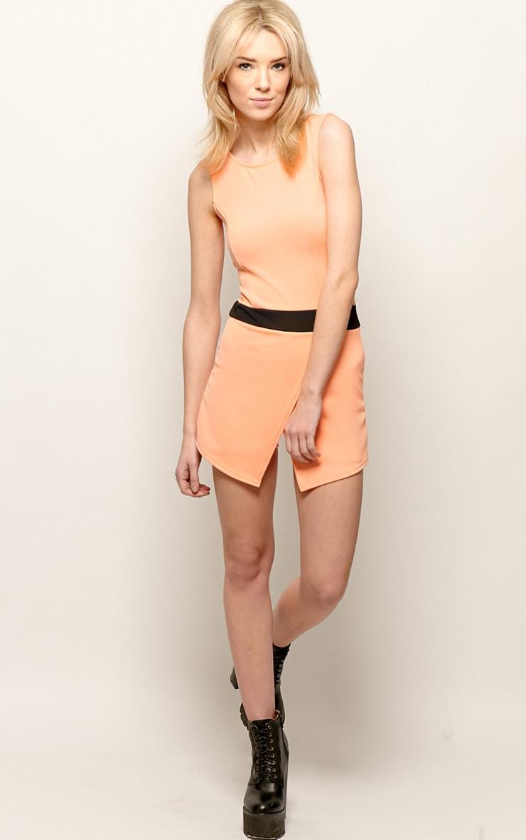 Tessie Orange Skort Playsuit 3
