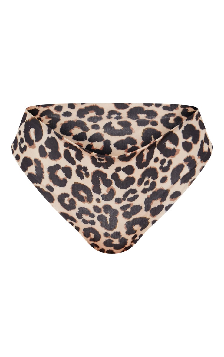 Leopard Bardot Tie Front Bikini Top 3