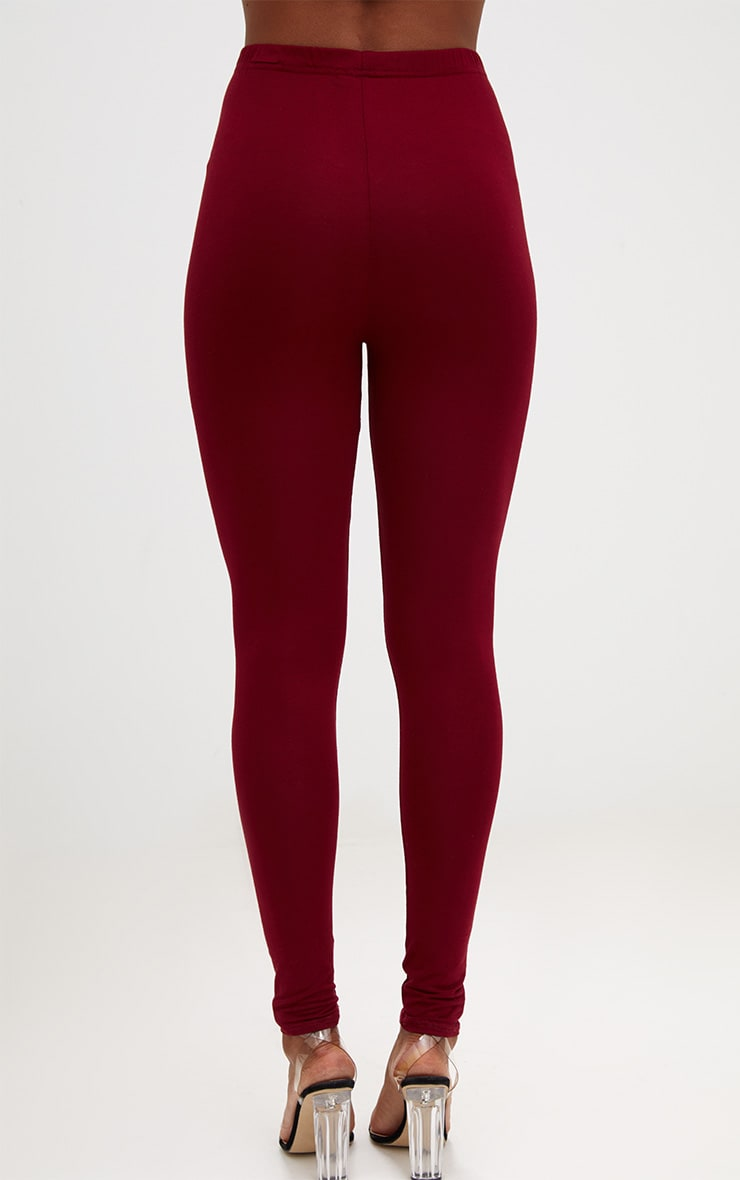 Basic Brown and Burgundy Jersey Leggings 2 Pack 3