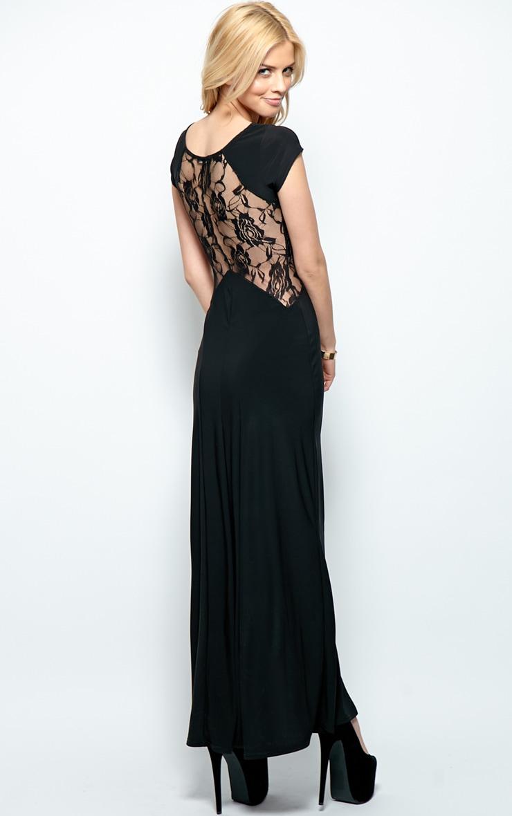 Venus Black Lace Panel Maxi Dress 3