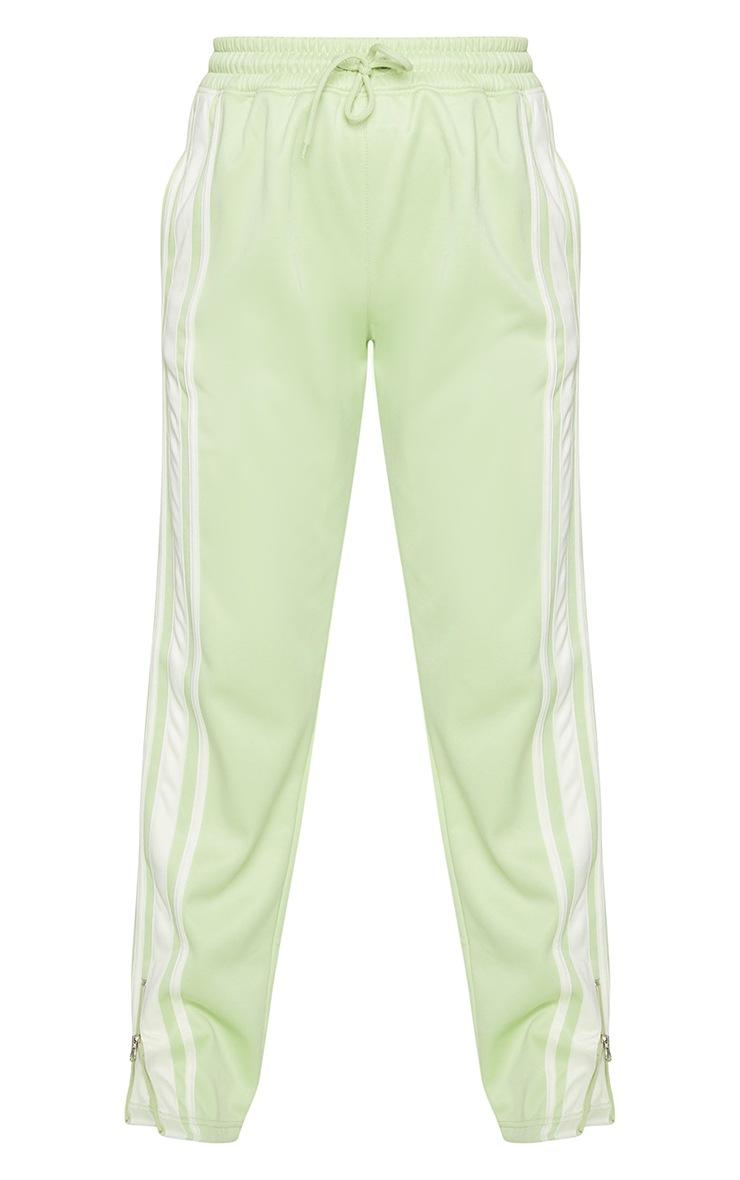 Sage Zip Side Stripe Wide Leg Track Pants 5