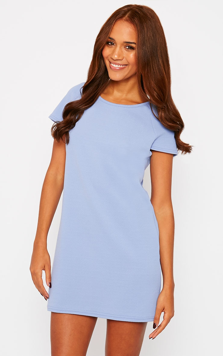 Camila Blue Loose Fit Shift Dress 4