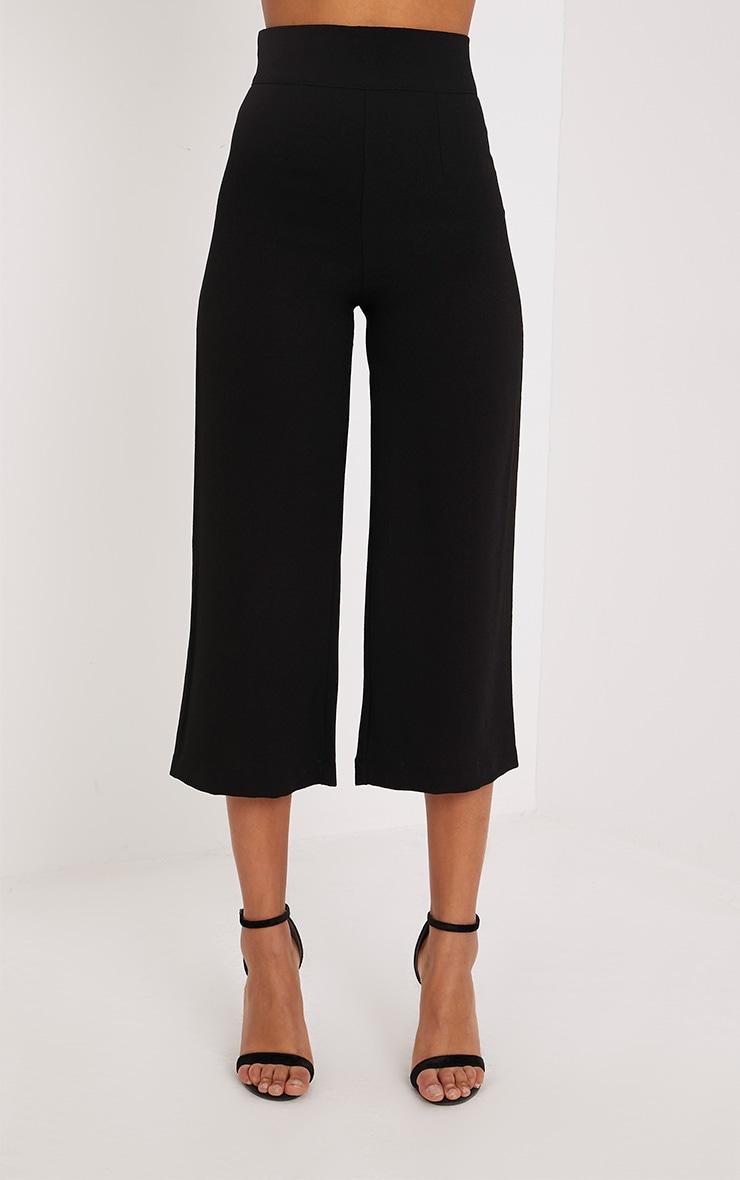 Tazmin jupe-culotte taille haute noire 2