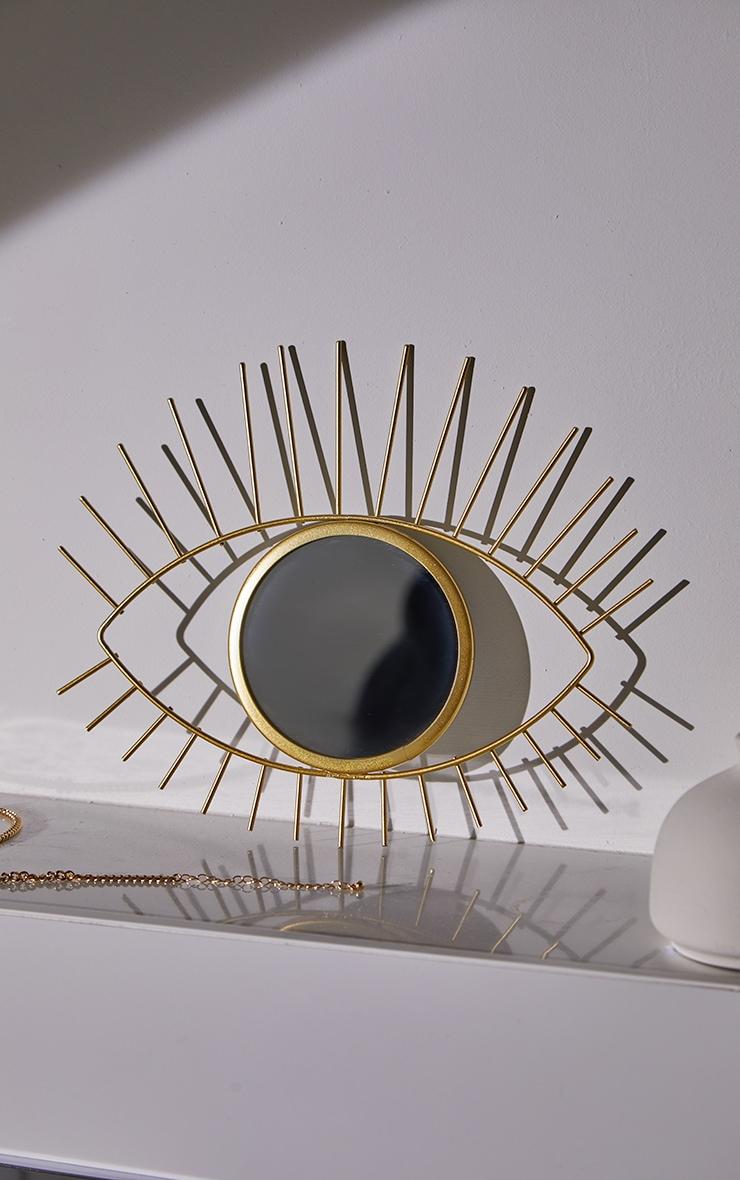 Miroir doré oeil tribal 1