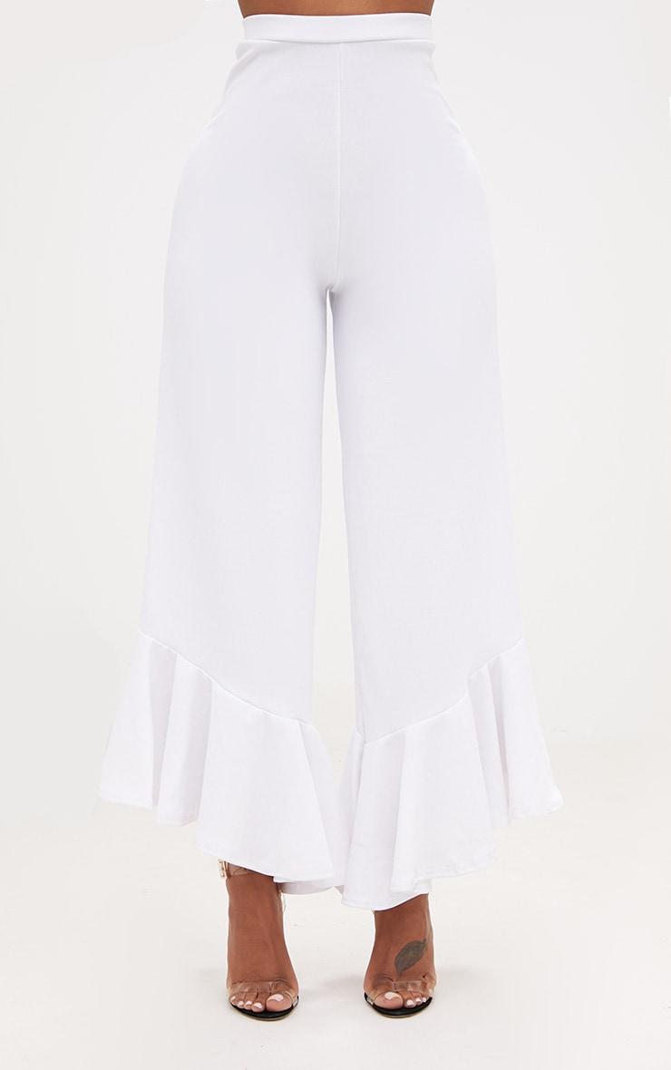 Shape Carmelia White Frill Hem Trousers 2