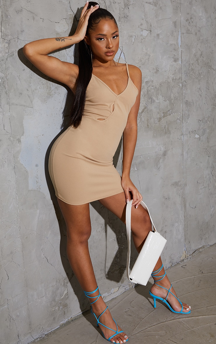 Stone Strappy Cut Out Detail Bodycon Dress 3