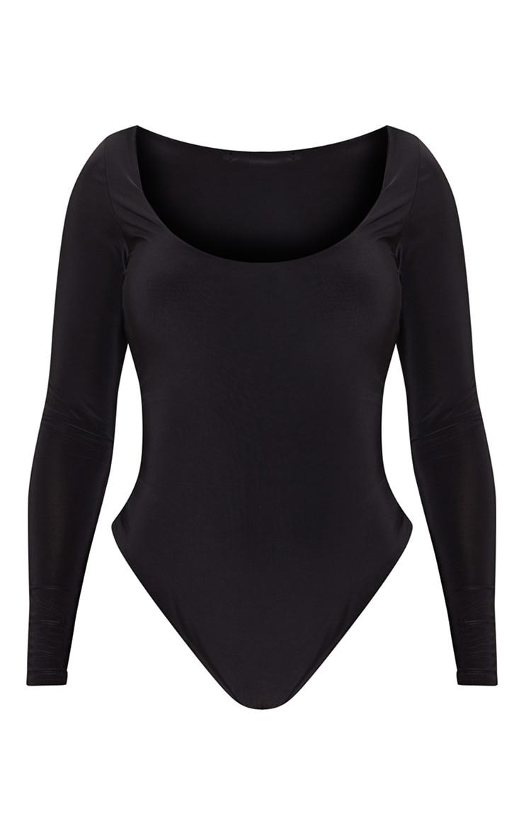 Shape Black Slinky Scoop Neck Bodysuit 3