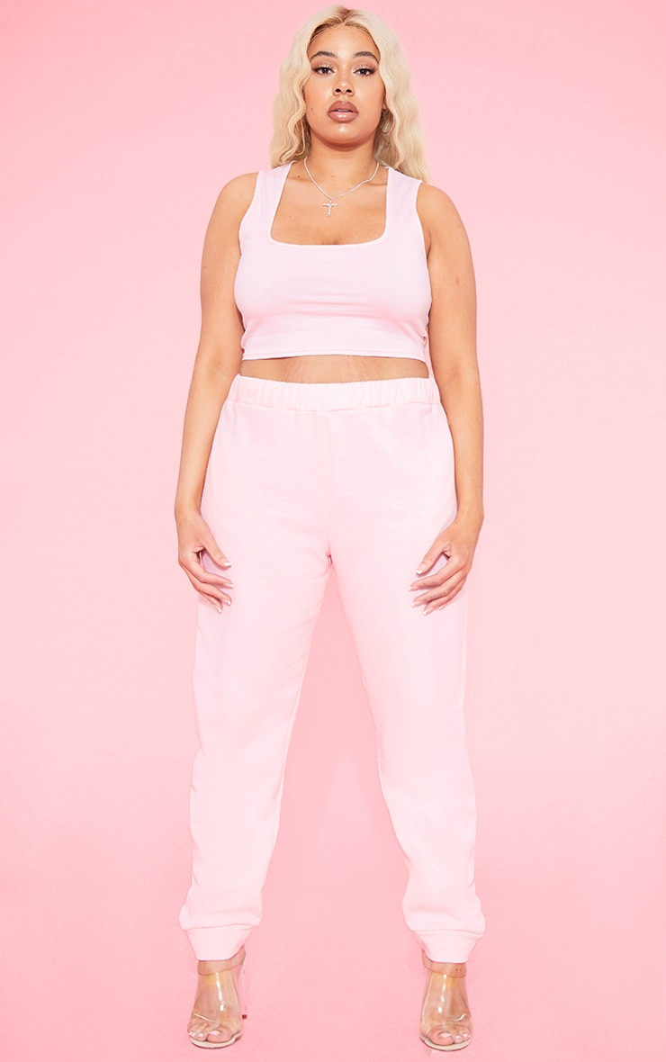 RECYCLED Plus Blush Square Neck Crop Top 4