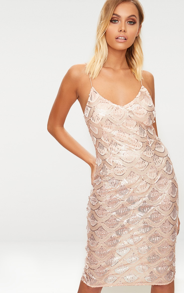 Rose deep plunge sequin bodycon dress women manufacturer