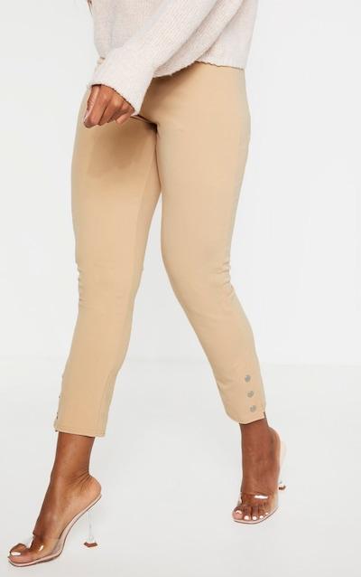 Stone Popper Ankle Detail Skinny Trouser