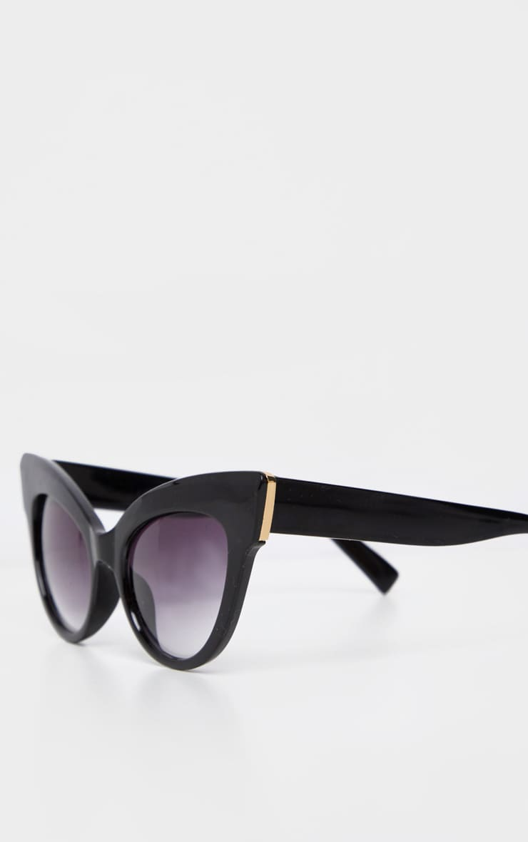 Black Extreme Cat Eye Retro Sunglasses 5