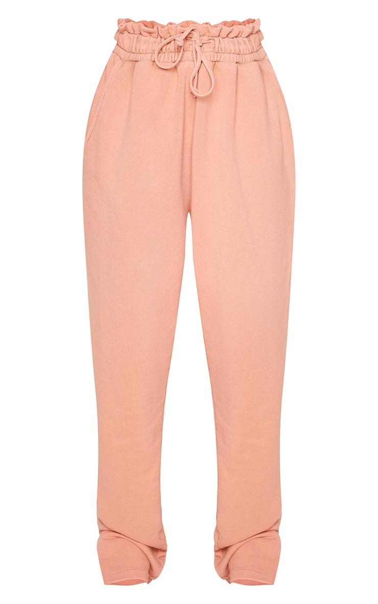 Petite - Jogging droit rose pâle à ourlet fendu 5