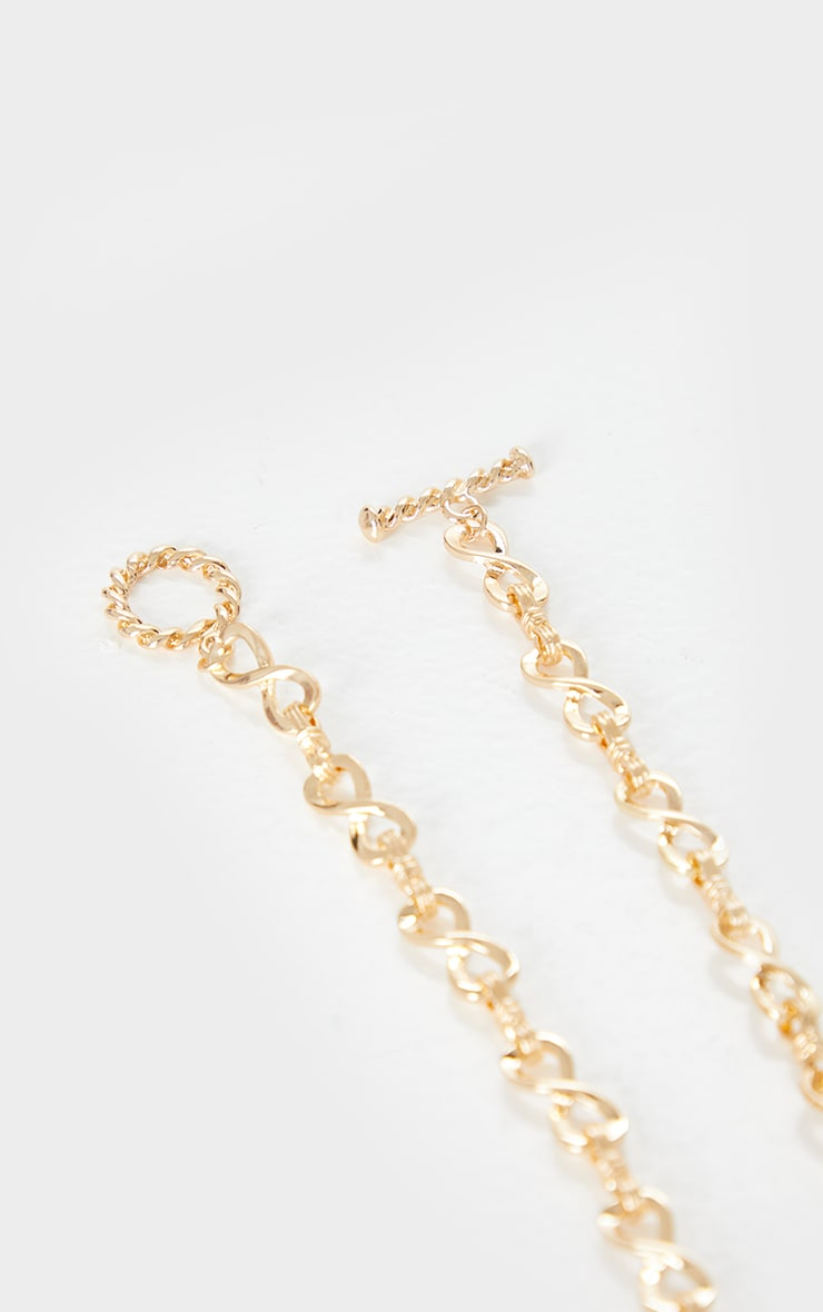 Gold Infinity Chain Short Necklace 3