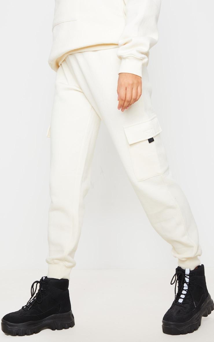 Cream Pocket Joggers 2