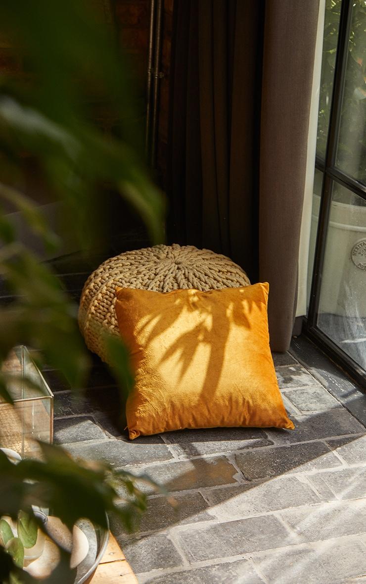 Yellow Velvet Cushion 2