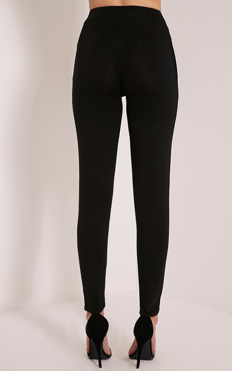 Rana Black Jersey High Waisted Joggers 5
