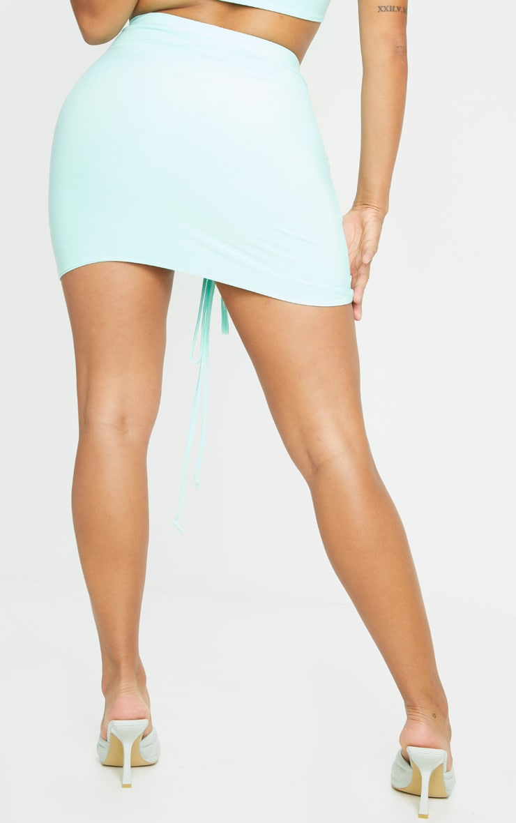 Shape Mint Slinky Ruched Front Bodycon Skirt 3