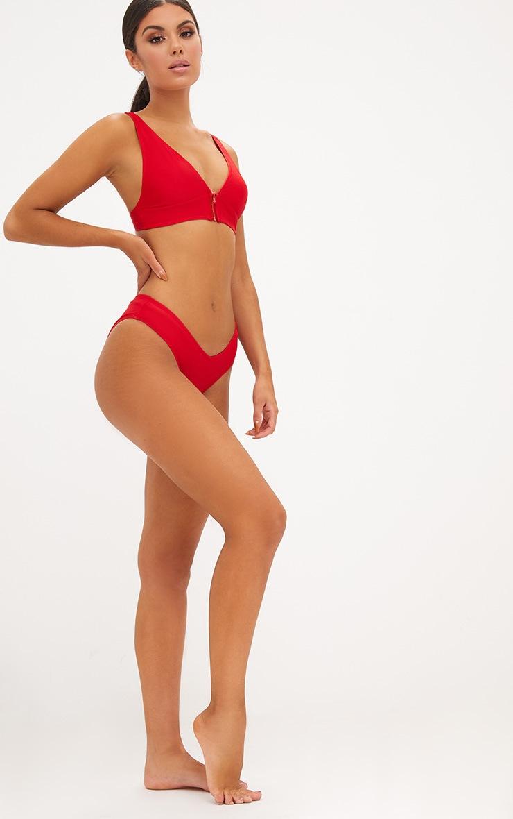 Red V Front Bikini Bottoms 5