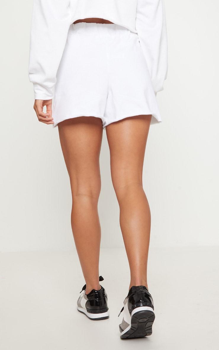 Petite White Raw Edge Shorts 4