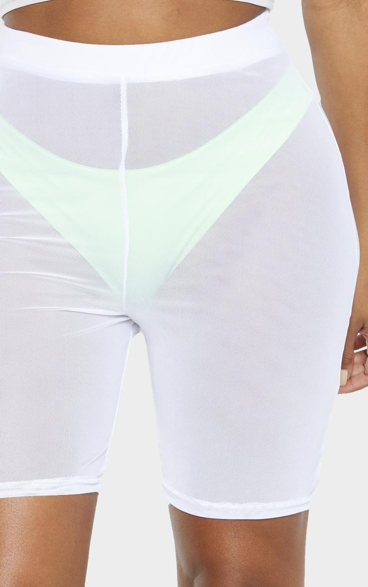 Shape White Mesh Cycling Short 6