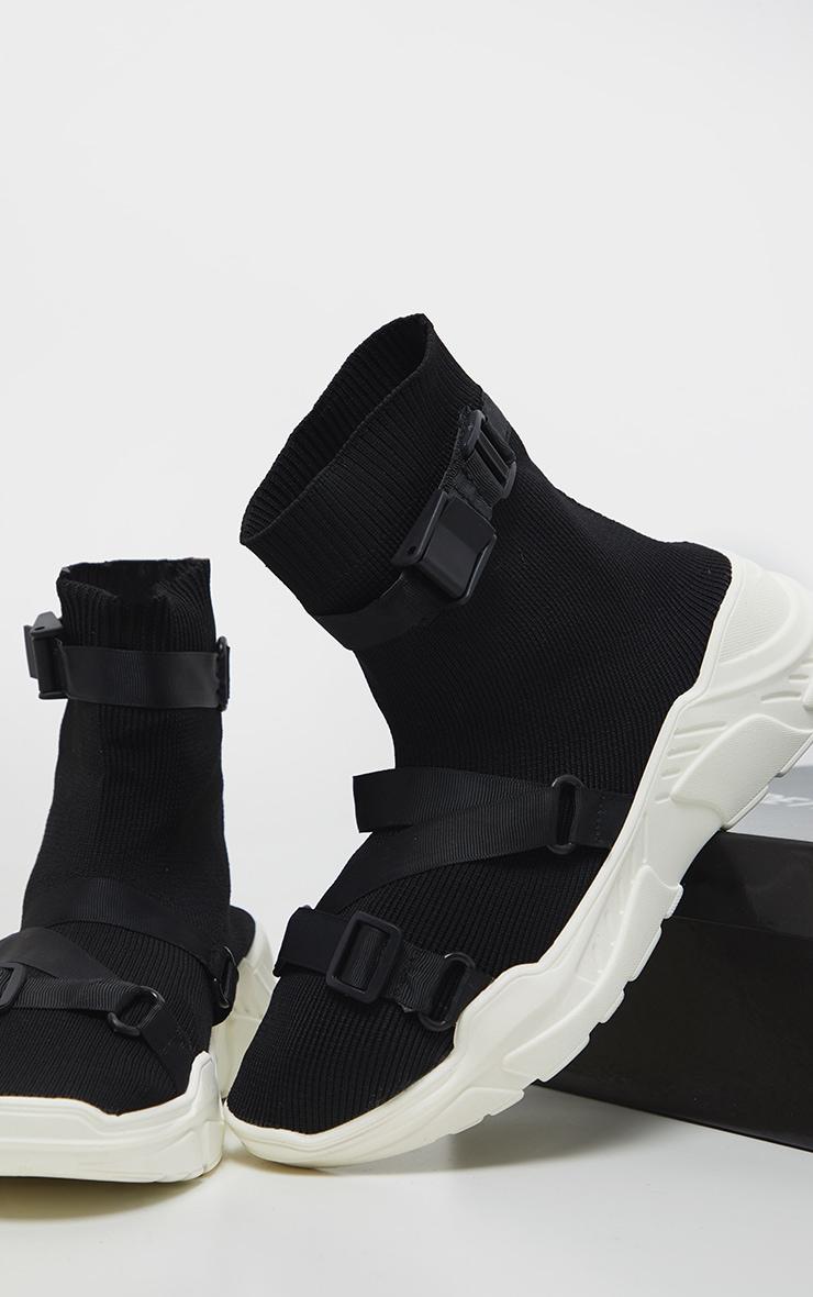 Black Velcro Strap Sock Trainer 3