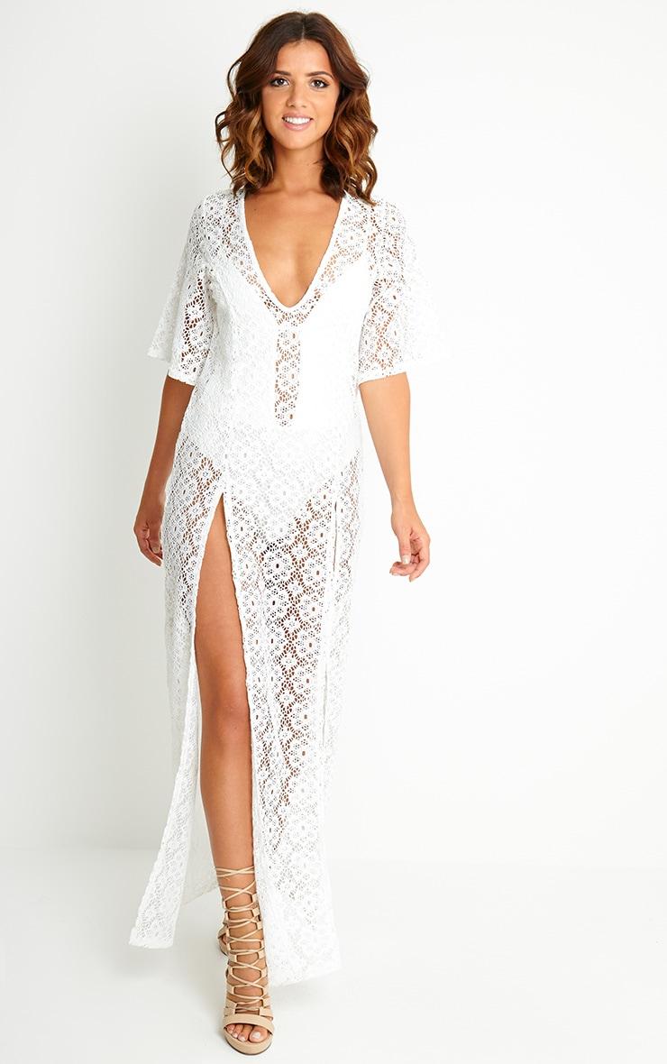 Shona Cream Crochet Maxi Dress 1