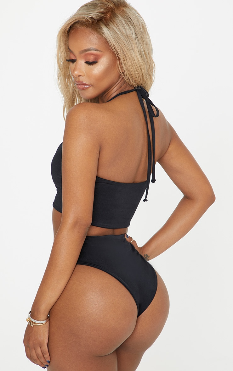 Shape Black Lion Trim Bikini Bottom 2
