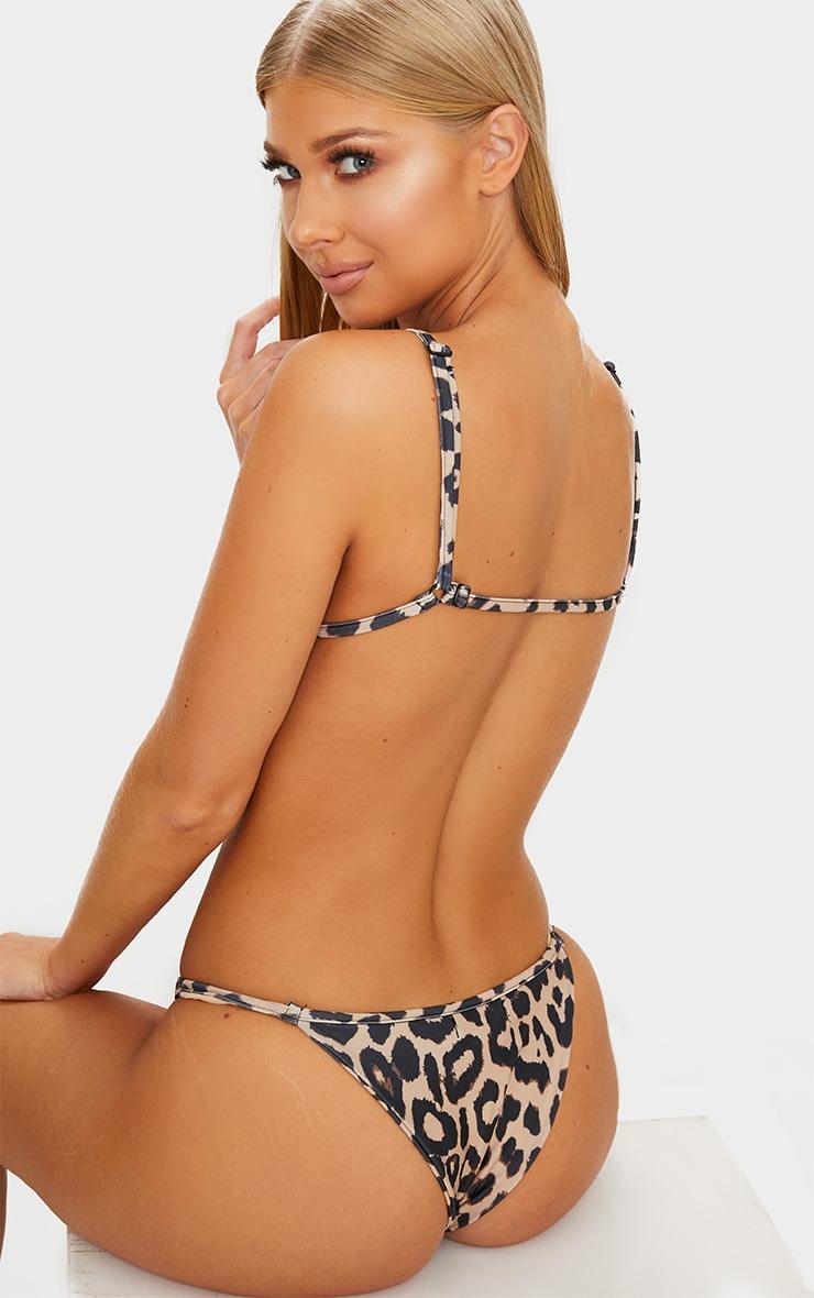 Leopard Itsy Bitsy Bikini Top 2