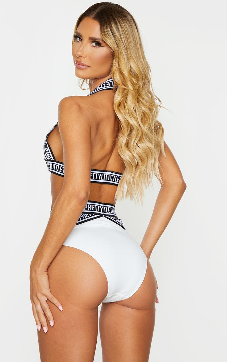 White PRETTYLITTLETHING Strap Bikini Top 2