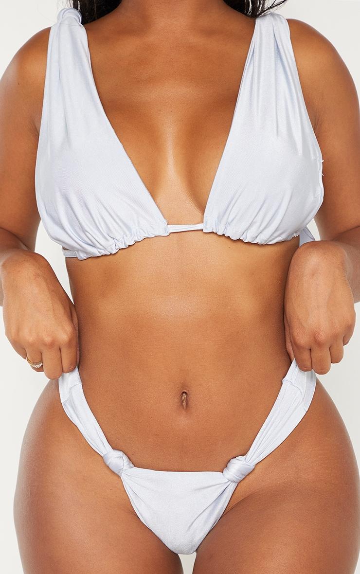 Shape Dusty Blue Knot Detail Bikini Bottom 5