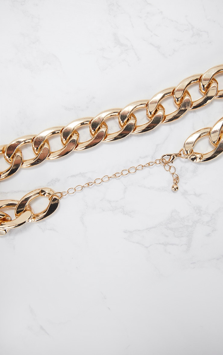 Gold Chunky Chain Choker 3