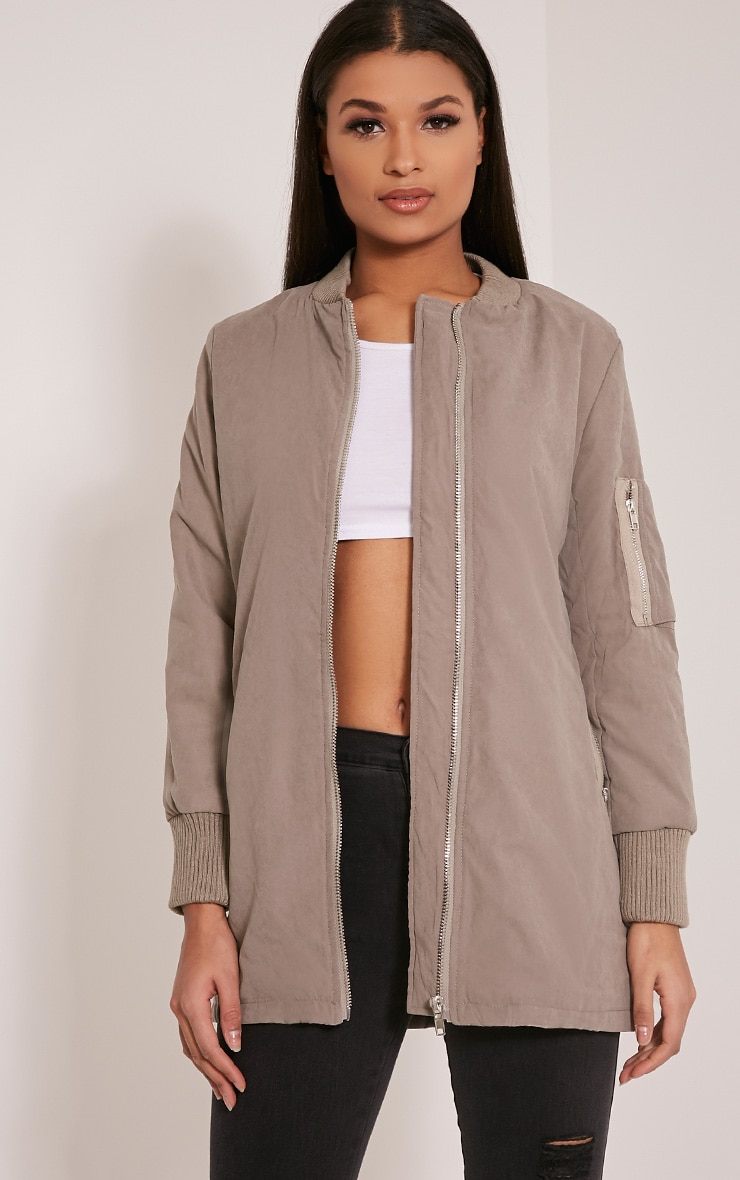 Bailey Grey Longline Padded Coat 1
