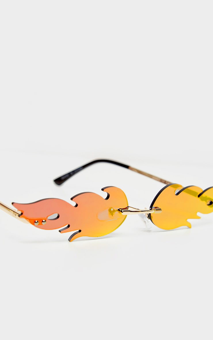 Red Lens Flame Sunglasses 4
