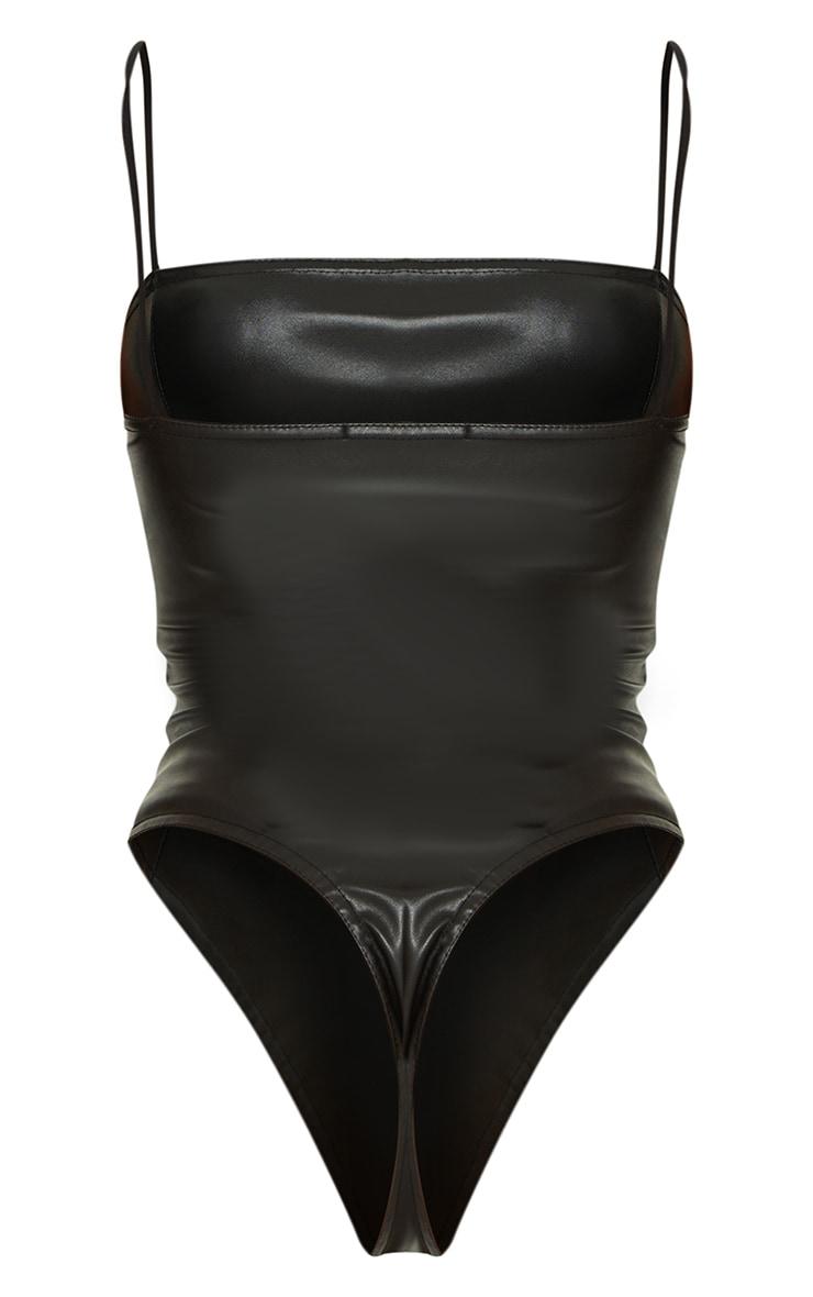 Black PU Strappy Bodysuit 6