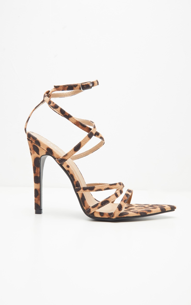Leopard Print Point Toe Strappy Sandal 3