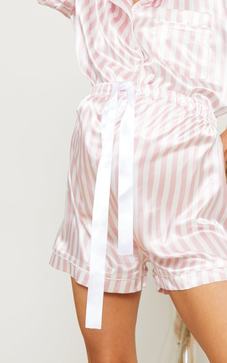 Maternity Pink Stripe  Mama PJ Shorts 5