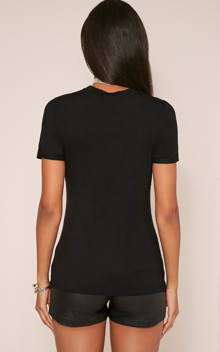Hamza Print Black T-Shirt 2