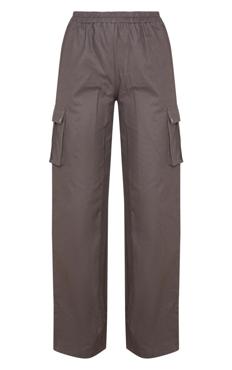 Charcoal Wide Leg Cargo Trouser 3