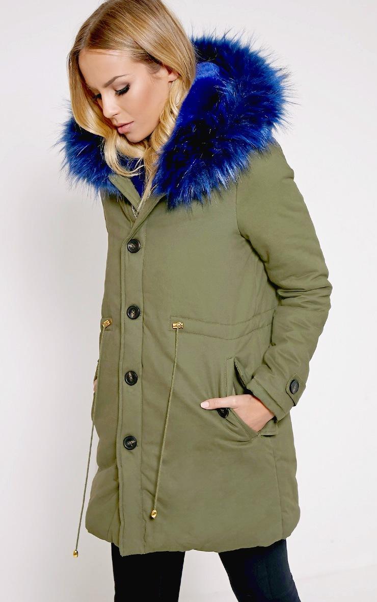 Jen Blue Fur Lined Premium Parka Coat 3