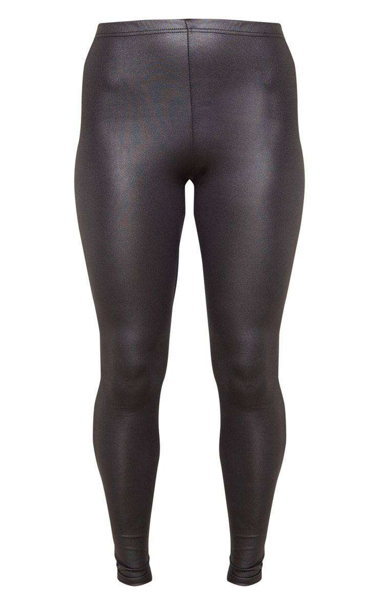 Savannah Black PU Leggings 4