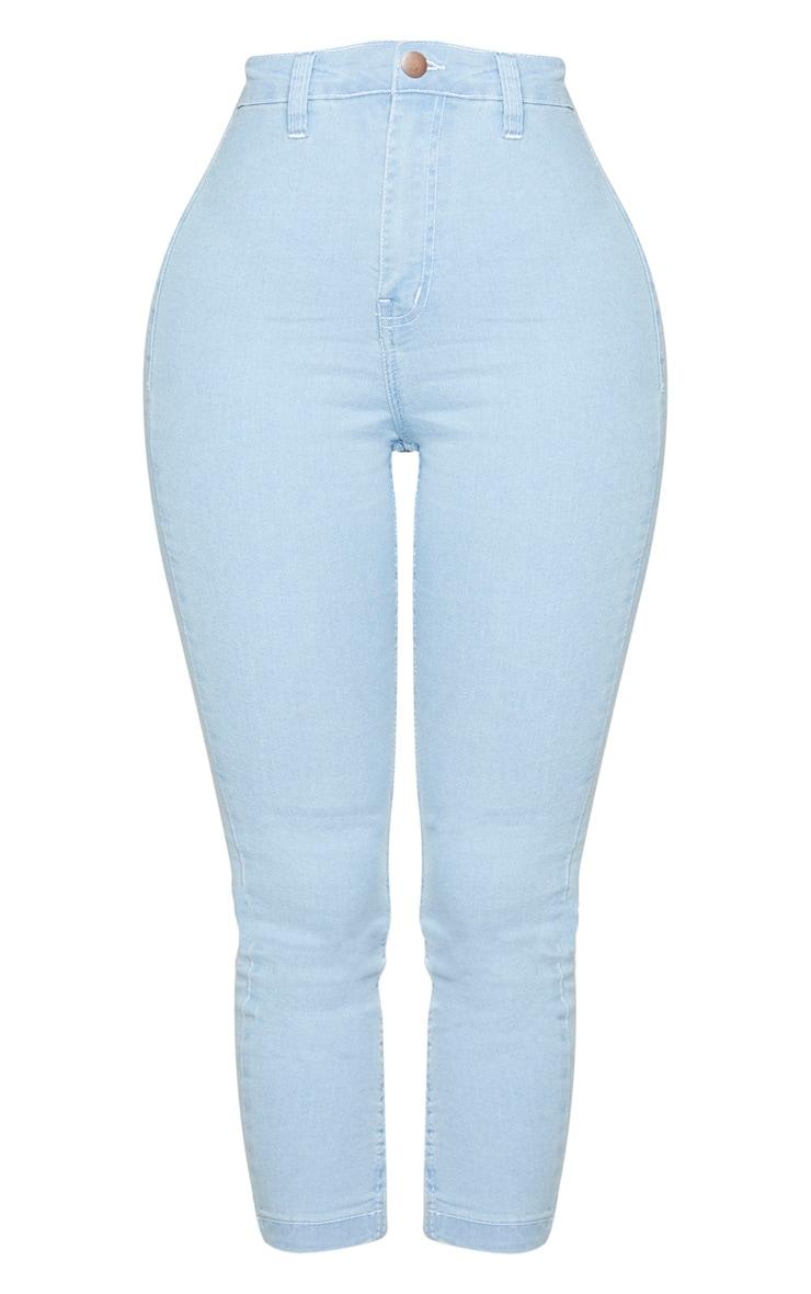 Shape Light Blue Wash High Waist Cropped Jeans 5