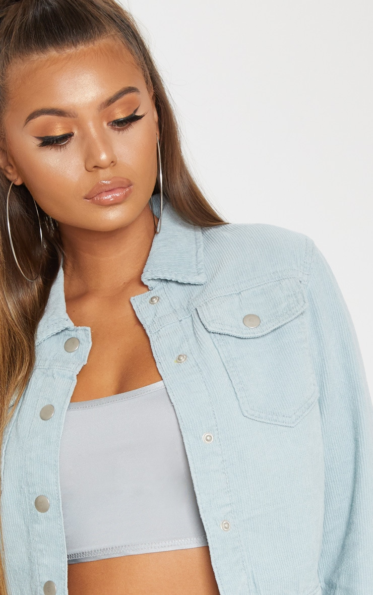 Dusty Blue Cord Jacket 5
