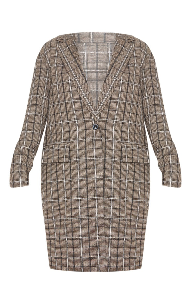 Brown Checked Coat 3