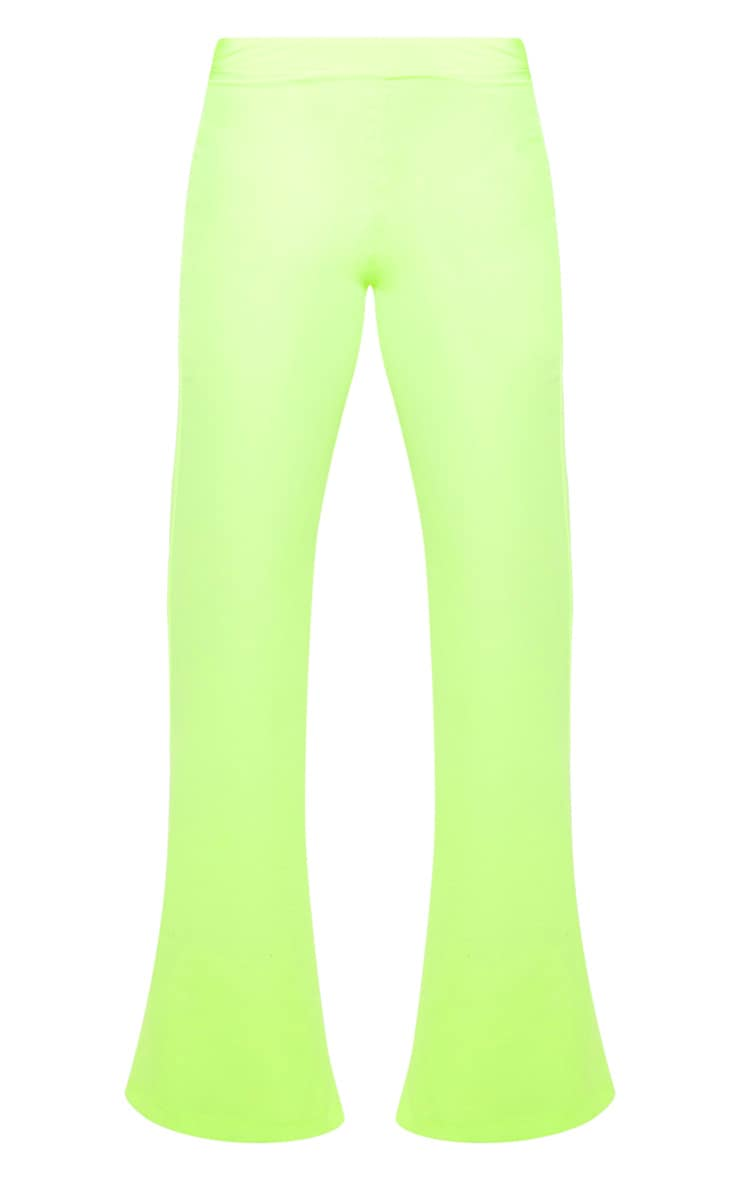 Petite Neon Lime Wide Leg Suit Pants 3