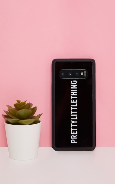 PRETTYLITTLETHING Black Logo Samsung S10 Plus Phone Case