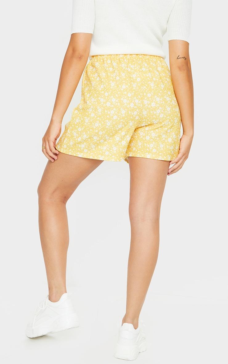 Yellow Oversized Floaty Shorts 3
