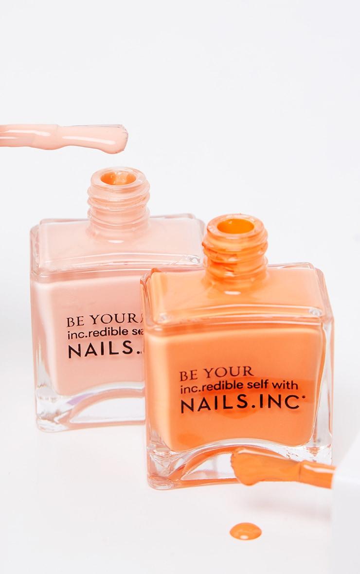 Nails Inc Kiss My Peach Nail Polish Duo 1